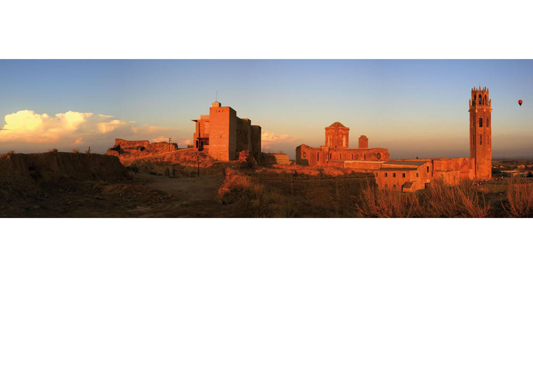 Lerida-La Zuda et La Seo-vue panoramique